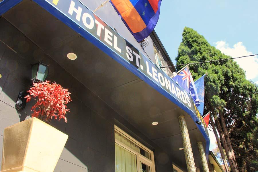 Hotel at an angle