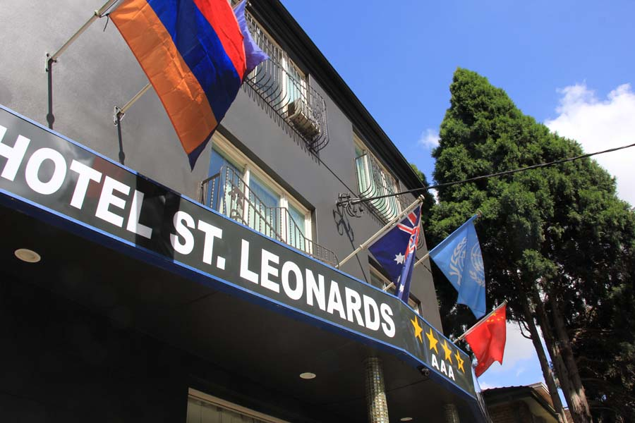 front of Hotel St Leonards rooms