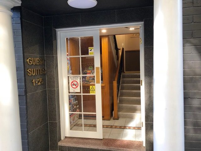 Entrance to Hotel Suites