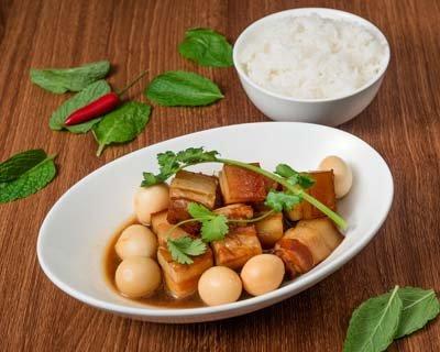 Saigon Cellars Pork Belly Stewed With Garlic And Eggs